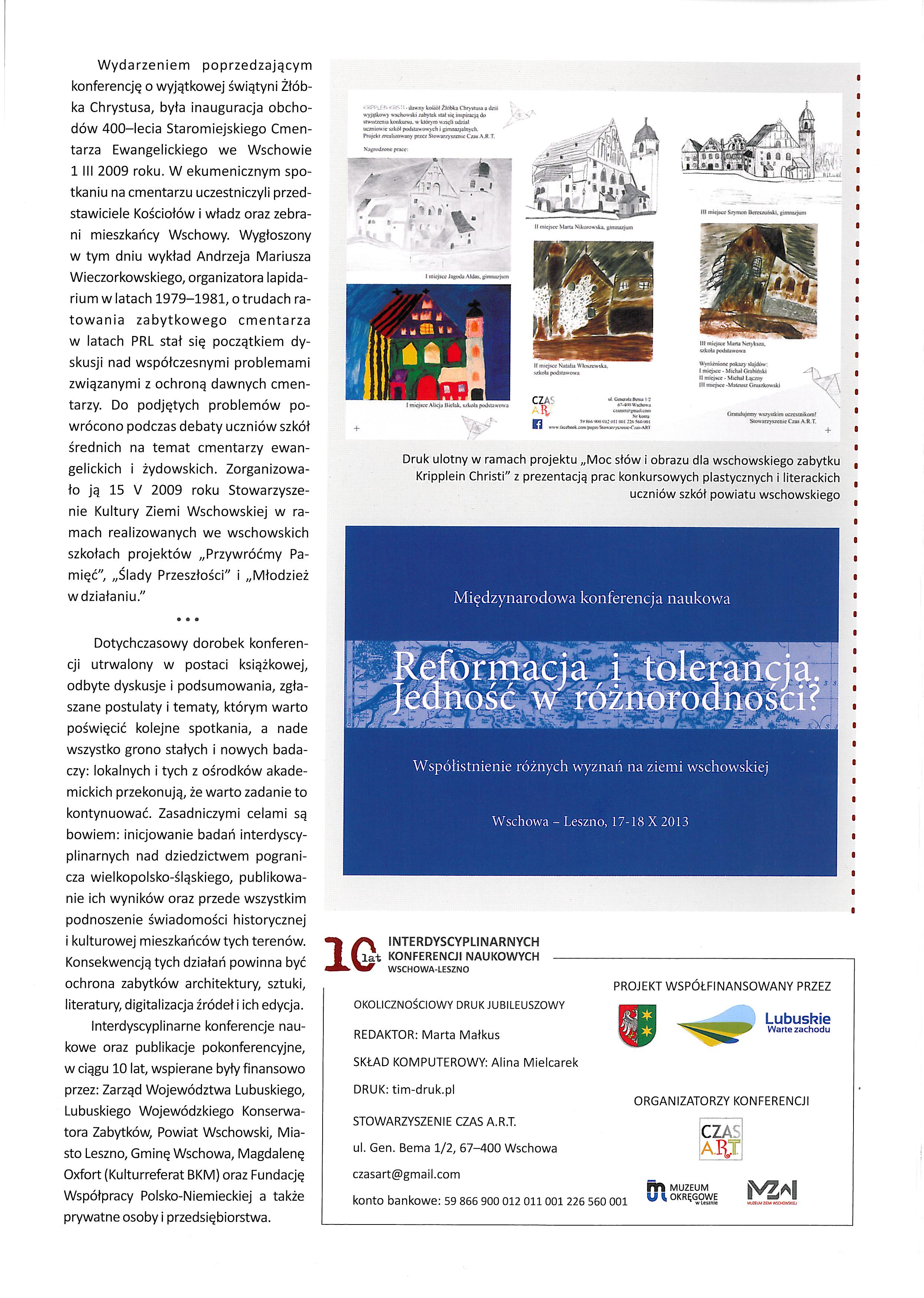10 lat konferencji naukowych ost strona