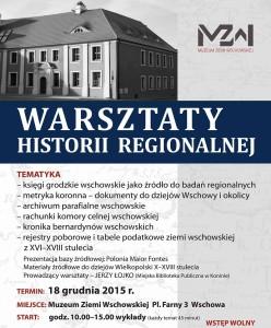 warsztaty historii regionalnej